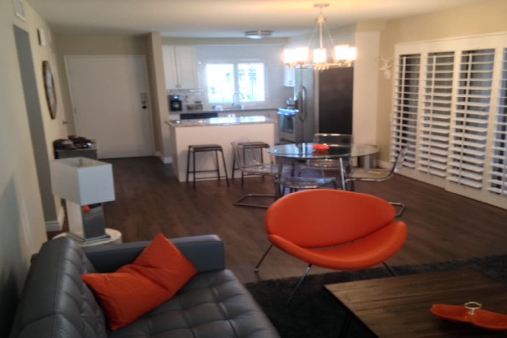 Living room, dinning room, Kitchen