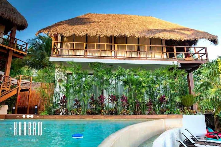 ☆KHABAN BACALAR - Lagoon front Private Villa☆
