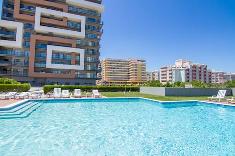 T1 -Rocha Tower ,Vista Mar,Piscina,Garagem,Wifi C