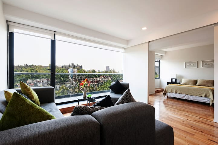 Coolest apartment with a great view @Condesa nbh!