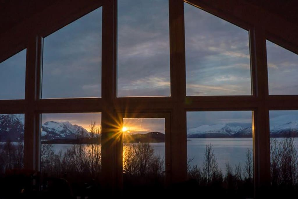 Midnight Sun from the cabin