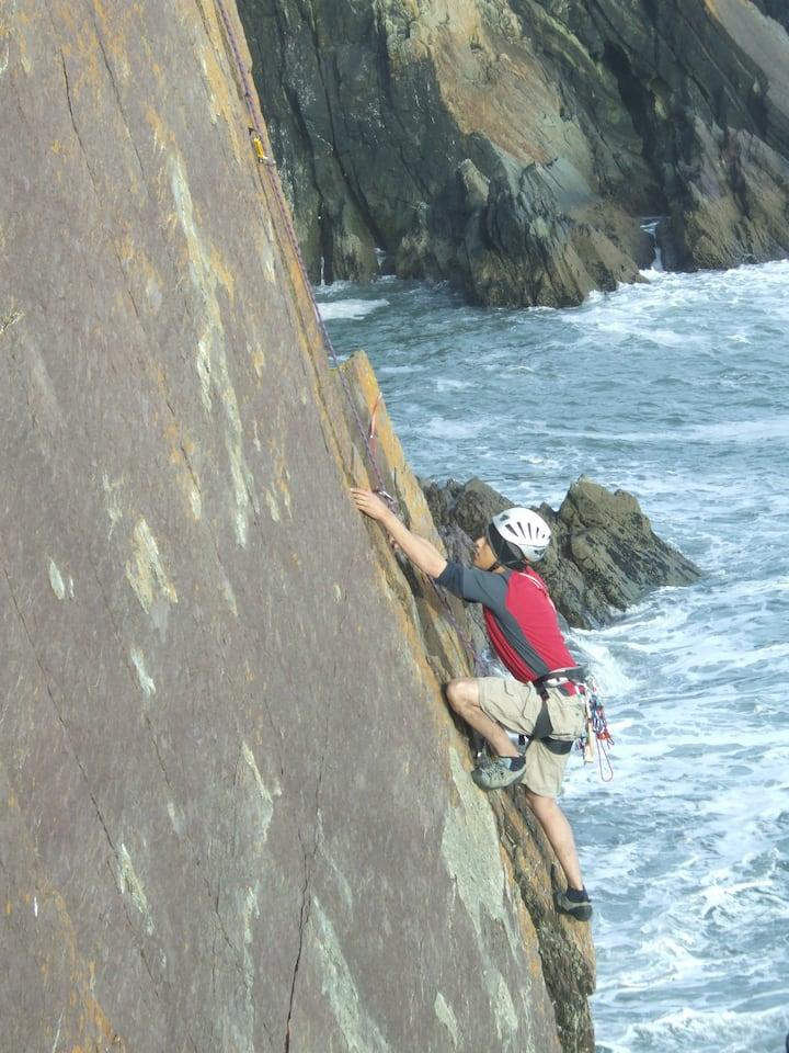 Myself Climbing in Cork