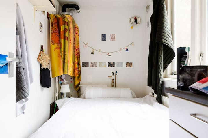 Small bedroom in one of the best Amsterdam apartmn