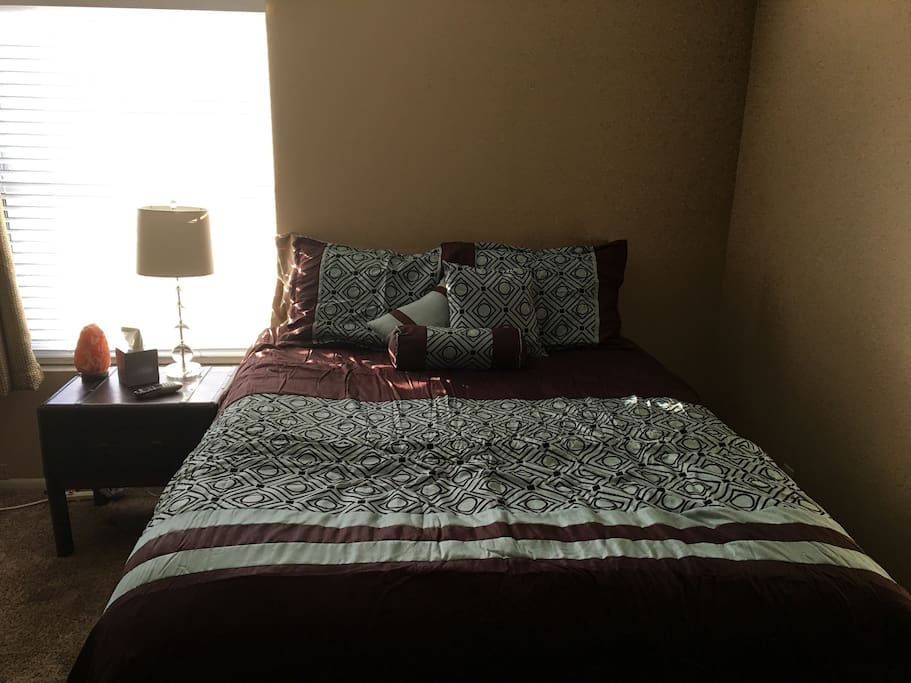 Your room is ready!  New extremely comfortable Queen