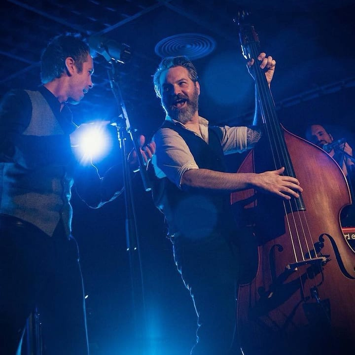A beautiful double bass musician moment