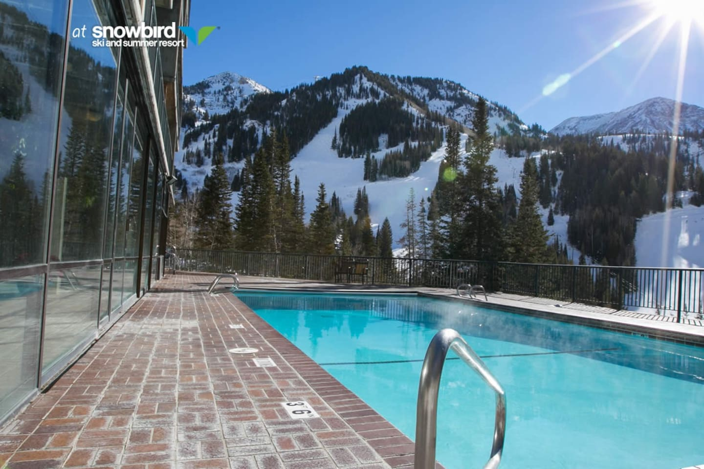 Outdoor Heated Pool (jump in the snow then back in the pool :))
