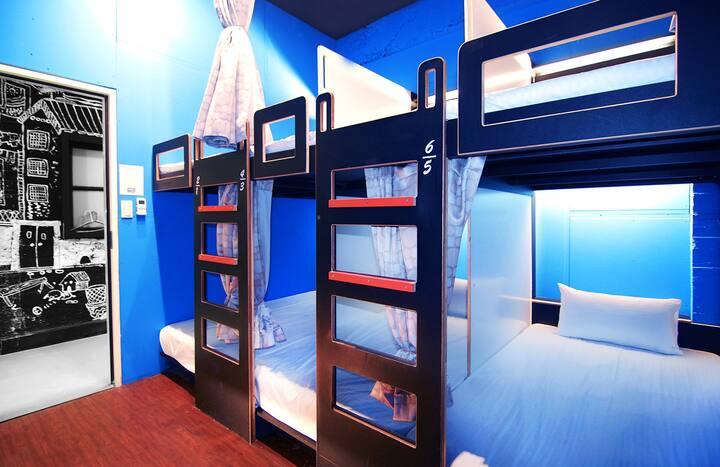 貝殼窩-背包客標準單人床位(房間及衛浴共用) 鄰近台北車站/西門町