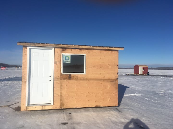 Ice Fishing Cabin on Sylvan Lake