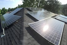 Solar panels provide all the electricity for the home (with grid backup)