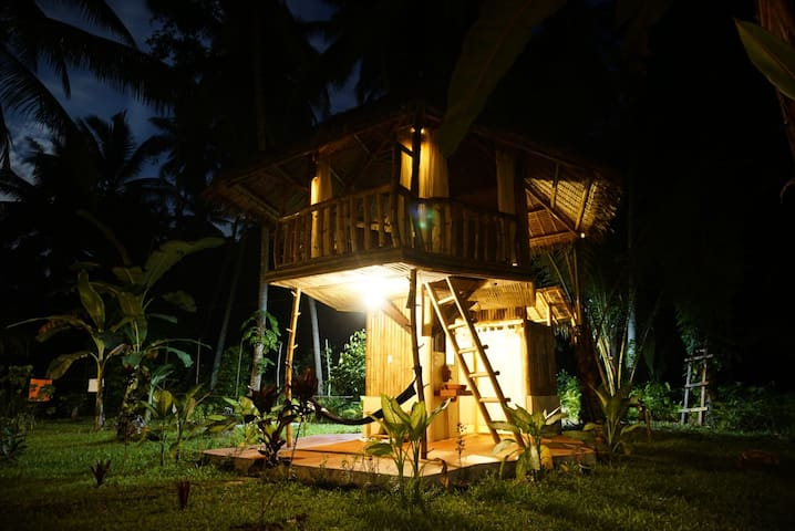Bamboo cottage by the river 1