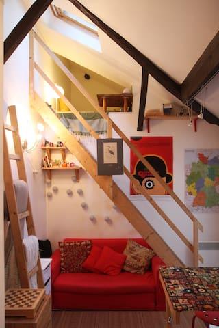 Studio trop mignon rue de Belleville - Paris - Apartmen