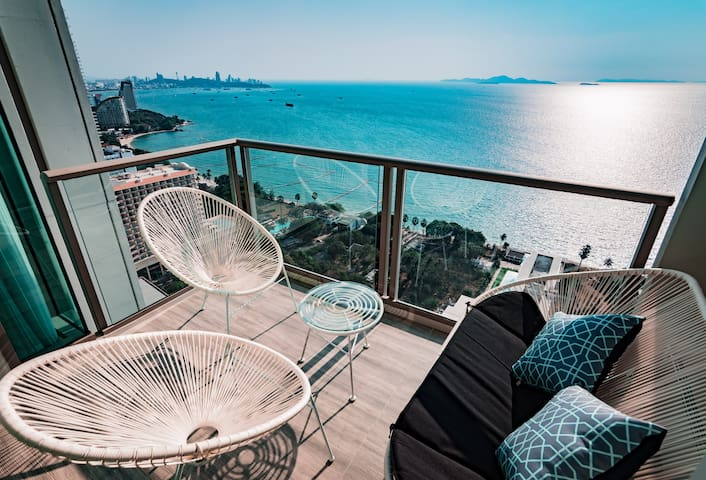 ⭐34th FL⭐1BR C❤️RNER Unit⭐Epic Pattaya Bay View⭐