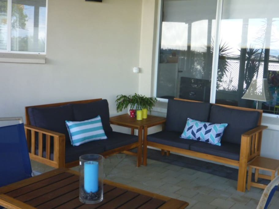 Your own private outdoor area to enjoy the coastal view