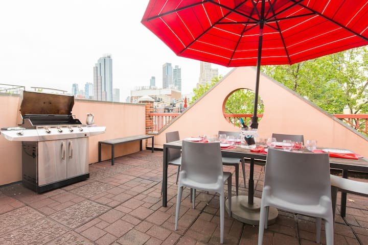 LEGAL PARK SLOPE 5 BR, ROOF TERRACES for 14 PEOPLE