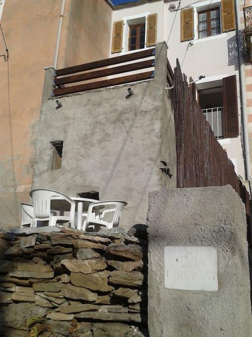 terrasse basse et terrasse haute