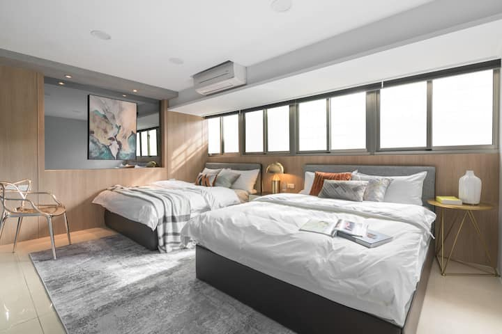 COZY&SPACIOUS  /Taipei Main Station /6pax /2room