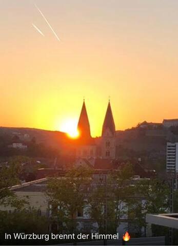 Über den Dächern von Würzburg