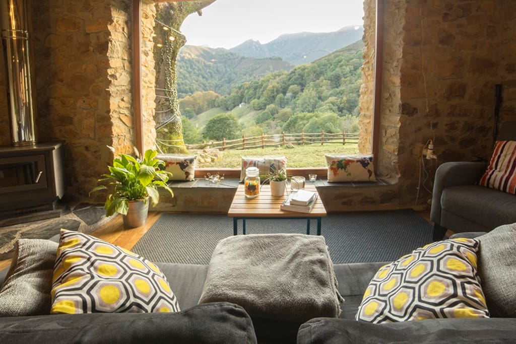 comfortable sofa with best views to relax and enjoy the silence