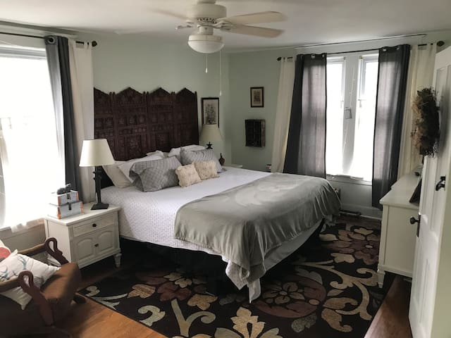 Huge comfy and cozy California King bed. Plenty of space to rest and relax.