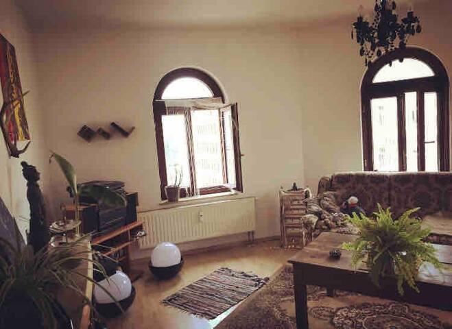 Gemütliches 20qm Wohnzimmer, mit Schlafsofa