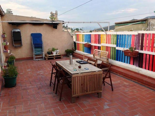 Habitación privada,terraza - Barcelona - Apartment