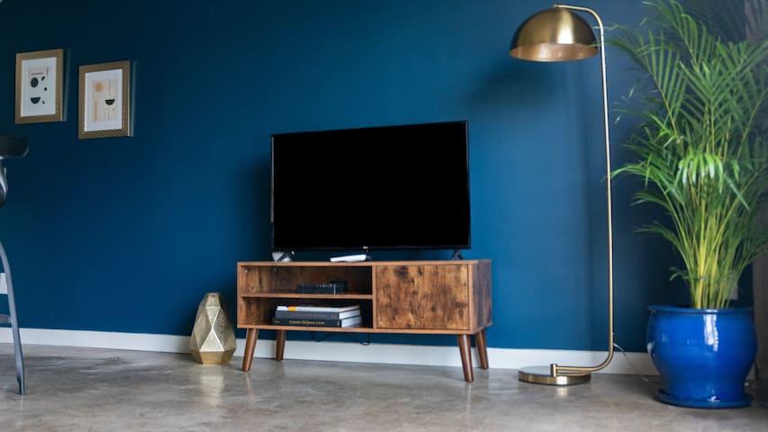 "44"" UHD 4K Smart TV with streaming apps like Netflix, Youtube, Amazon Prime, Hulu etc."