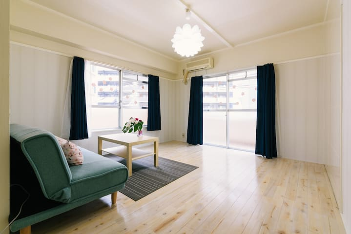 Beautiful and stylish room! canalcity 3 minutes! - Hakata-ku, Fukuoka-shi - Leilighet