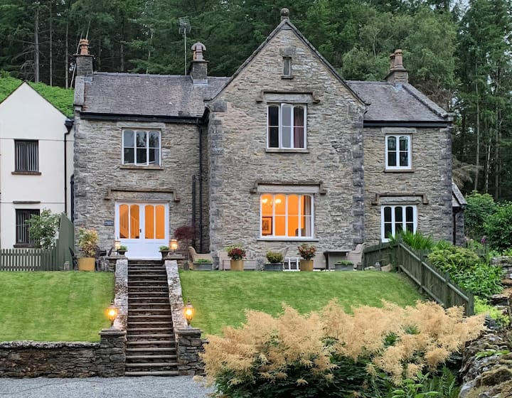 Victorian vicarage on tranquil Lake District lane
