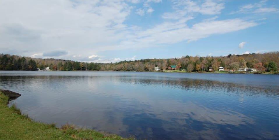Beautiful pristine lake!  Great for fishing!