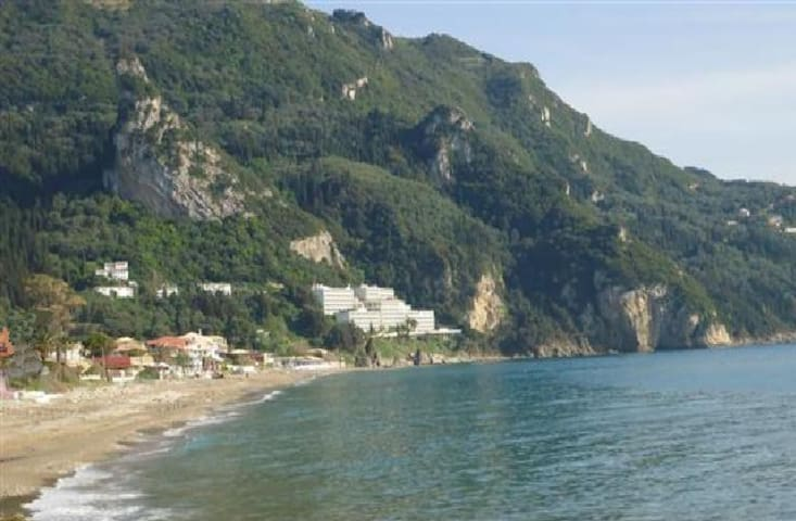 Luxury Sea View  Studio for 2-4p, 50m from beach - Agios Gordios - Appartement