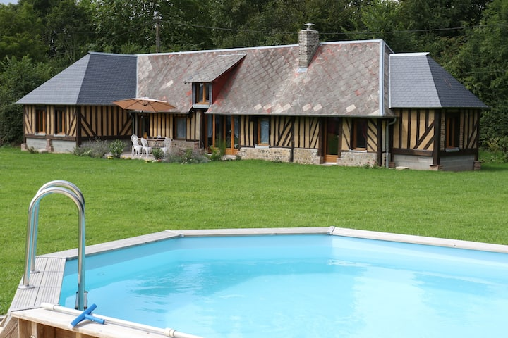 NDILA COTTAGE, Private pool, near Honfleur