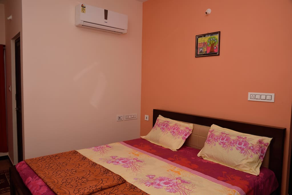 Double bedrooms with attached toilets and a/c