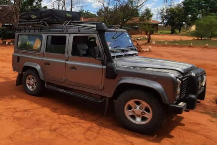 Landrover with rooftop tent experience