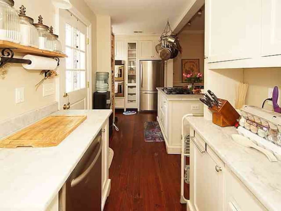 Kitchen is stocked with everything you would need to cook!