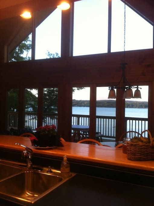 View of Lake Salem from Kitchen over Kitchen Counter