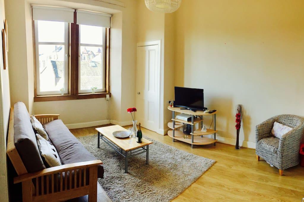 Bright top floor living room