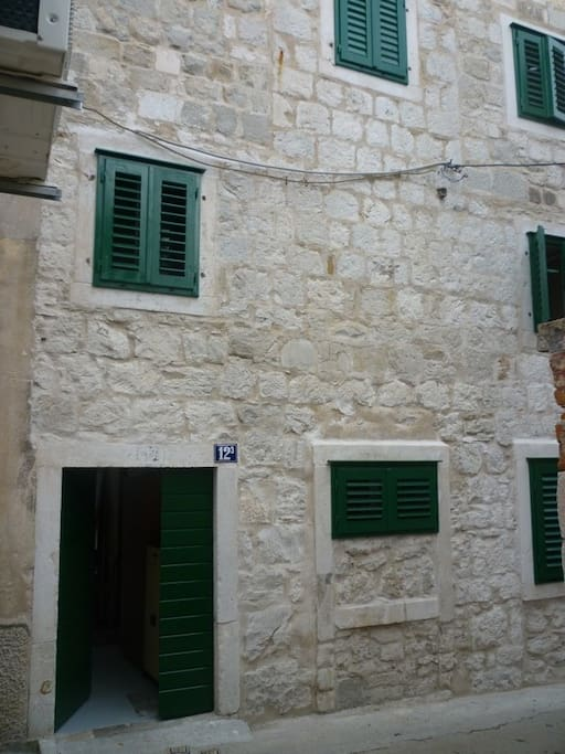 The house entrance