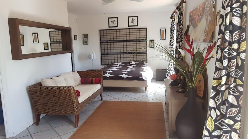 Suite spacieuse 35m2 avec piscine  & jardin 2300m2 - Galargues - บ้าน
