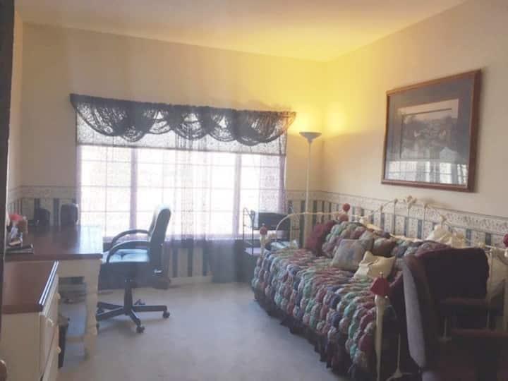 Cozy bedroom in large 5-bedroom home