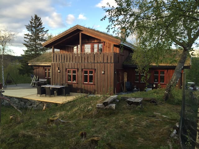 Villmarkshus på naturtomt - Frosta