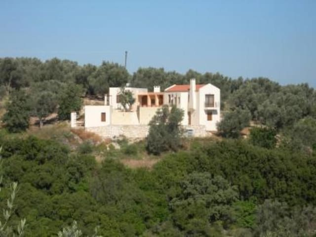 Large villa with superb views in Amnatos