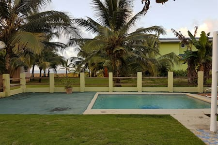 Casa en playa del Caribe para 10 personas