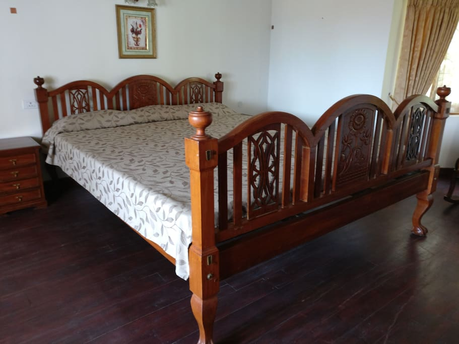 9 feet by 9.5 feet antique bed