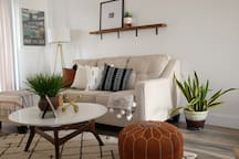 Spacious living area with pull out sofa