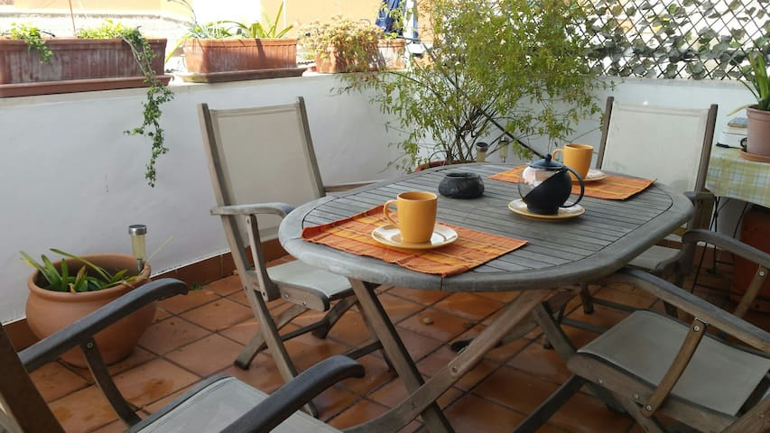 Atico soleado con terraza y piscina Centro ciudad - Sevilla - Appartement