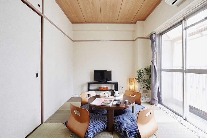 Free WIFIJapanese Tatami room!! Samurai I10 - Shinjuku-ku - Wohnung