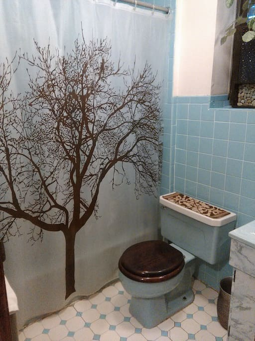 Bathroom stays clean and is sanitized DAILY.