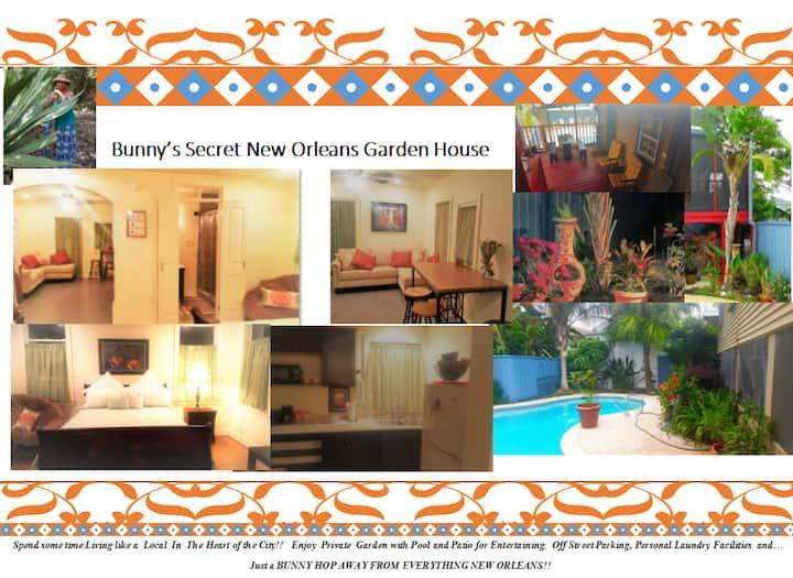 BUNNY'S SECRET NEW ORLEANS GARDEN HOUSE