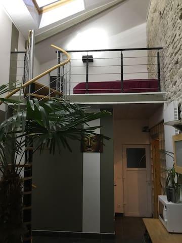 Studio joli calme et agréable à la campagne