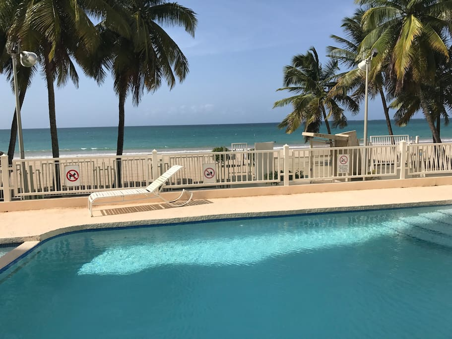 Relax by the pool & see the beach!